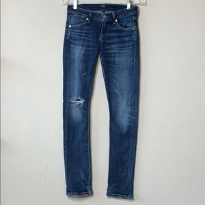 AGOLDE Chloe Skinny Low Rise Distressed Jeans